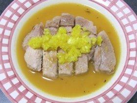豚ロース肉のパイナップルソース煮