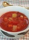 食べるトマトスープ♪野菜室の整理に!