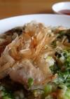 ネギと小松菜のお好み焼き
