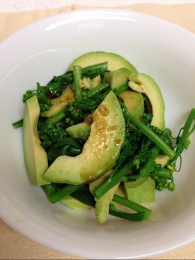 茎ブロッコリとアボカドのサラダ