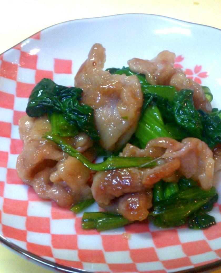簡単!激ウマ!豚肉と小松菜の醤油炒め