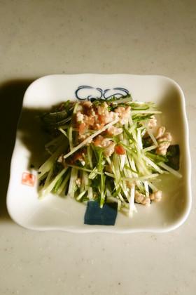超かんたん♪水菜と梅のさっぱり和え