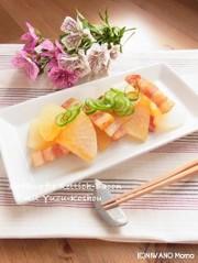 大根とベーコンの柚子胡椒蒸しの写真