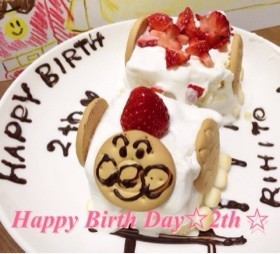 2歳誕生日♡アンパンマン機関車ケーキ