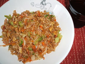 キャベツと桜海老の炒飯