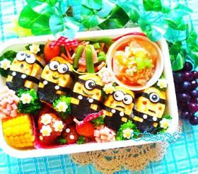 キャラ弁☆卵の握り寿司でミニオン
