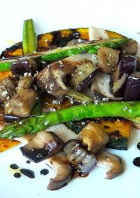 野菜のソテー,バルサミコソース