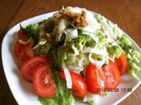 生ブロッコリーとモッツァレラのサラダ
