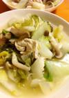 白菜と鶏ささみの鶏ガラとろ〜りスープ