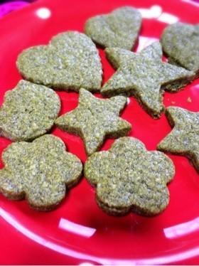 簡単抹茶風!緑茶のほろっと濃厚クッキー♡
