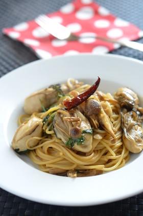 動画あり☆簡単!牡蛎ときのこのスパゲティ
