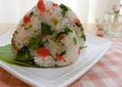 ☆菜の花とカリカリ梅の混ぜご飯おにぎり☆