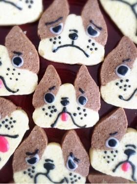 かわいい簡単!犬のアイスボックスクッキー