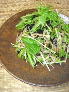 水菜と切り干し大根の柚子胡椒サラダ