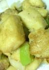 高野豆腐の唐揚げ粉炒め