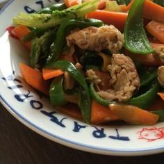 残り物+αで簡単野菜炒め 米にも合うよ!
