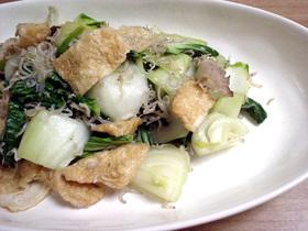 青梗菜と油揚げの炒め物