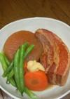 豚バラ肉かたまりと大根の味噌煮