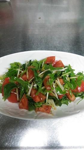 トマトとホワイトセロリのサラダ