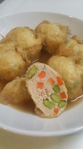 鶏挽き肉と野菜の巾着☆簡単お弁当にも♪
