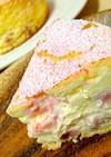 フレッシュ苺のベイクドチーズケーキ♡