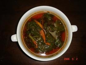 ピリ辛ごまごまスープ