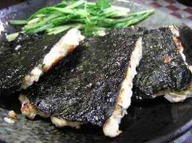 鶏ひき肉の磯辺焼き