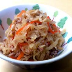 簡単!激ウマ!豚挽き肉と切干大根の煮物