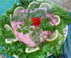 ブラジル風赤かぶとポテトのピンクのサラダ