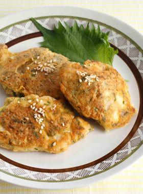 鶏むね肉のしそごまチーズピカタ