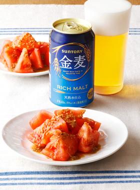 冷やしトマトのごまポン酢かけ