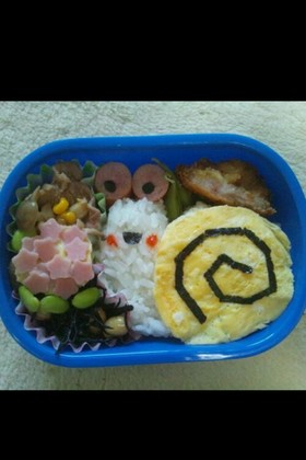 カタツムリと紫陽花のお弁当(キャラ弁)