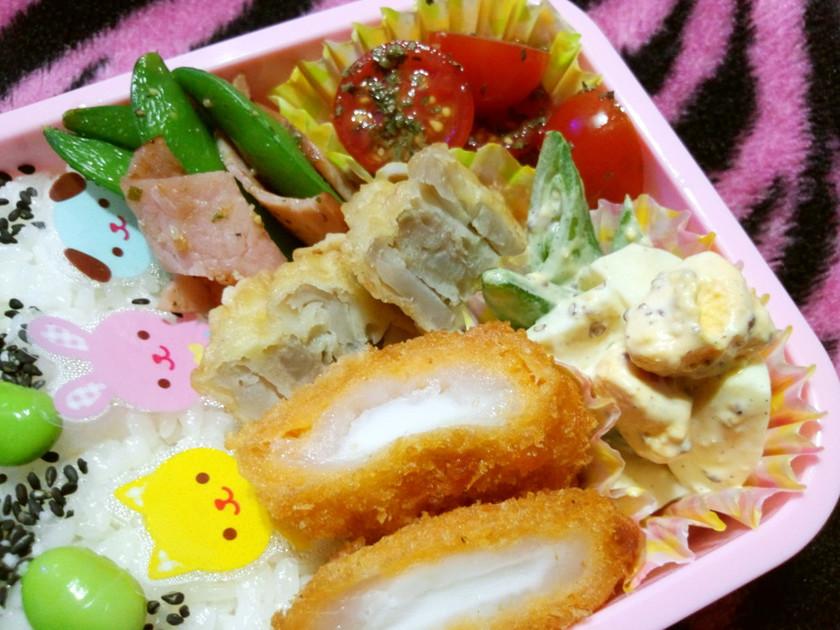 超ズボラ★お弁当に塩バジルトマト