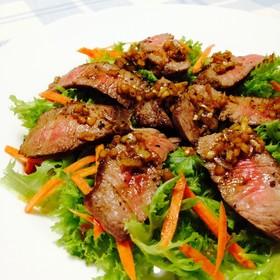 満腹‼︎ 牛ランプ肉ステーキサラダ