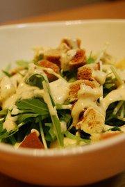 水菜のシーザーサラダ風。の写真