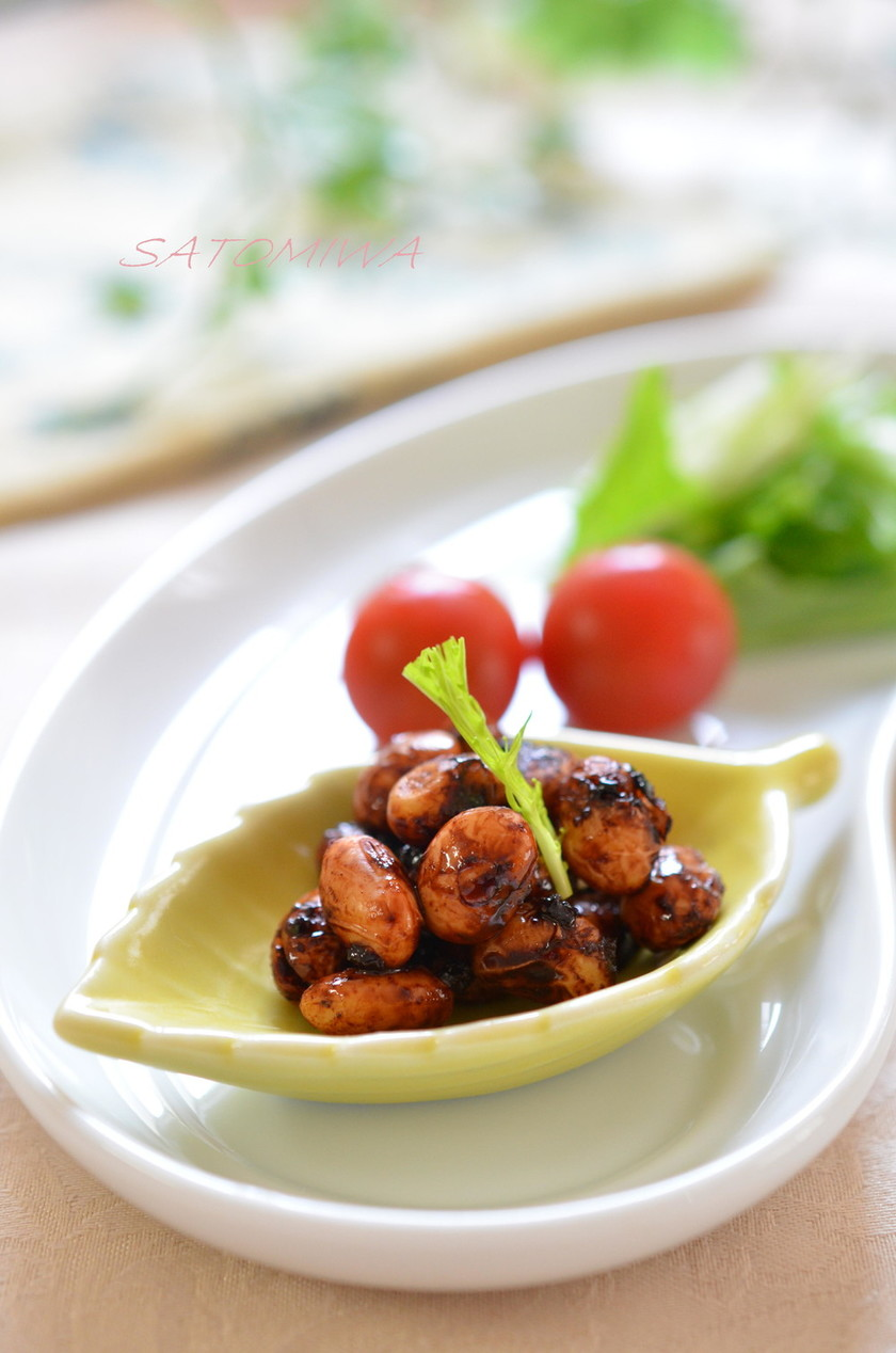 お弁当の隙間に✿大豆のほろ苦ココア絡め