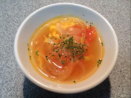 ☆簡単!トマトとタマネギの卵スープ☆