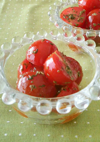 プチトマトとバジルの簡単サラダ♪