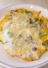アスパラとコンビーフのチーズオムレット