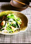 かき菜と新玉ねぎのナムル風塩麹和え