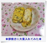✿卵焼きに大葉入れてみた✿の写真