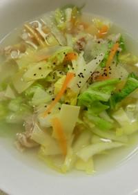 筍・姫皮(ヒメカワ)の中華スープ