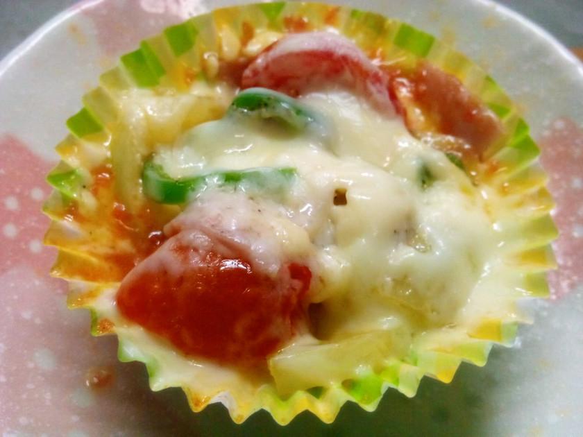 レンジで1分お弁当♪チーズ&トマト