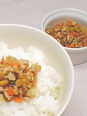 栄養満点!愛情納豆ご飯