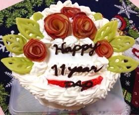 バラの花のデコレーションケーキ