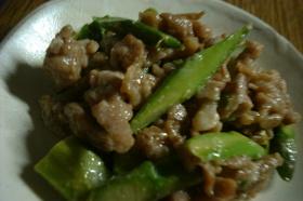 豚肉とアスパラのマヨ炒め