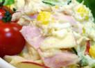 ツナとコーンとハム卵のリンゴ入りポテサラ