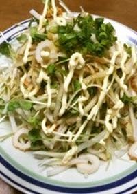 俺流!竹輪と大根のマヨポンサラダ
