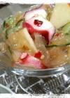 中華くらげとタコのりんご入り酢の物
