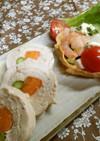 サラダ的な鶏むねロール柚子胡椒マヨ